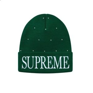 Supreme Studded Beanie with all accessories.
